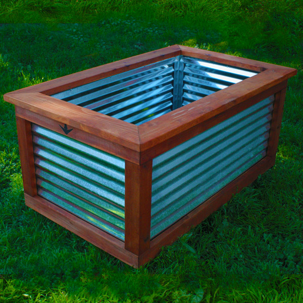 Large Redwood Planter Box For Tomatoes: Rosie The Riveter Planter Box